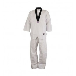 Student taekwondo Uniform White with Black V Neck