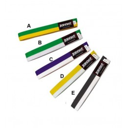 Double Color Rank Belt 4cm